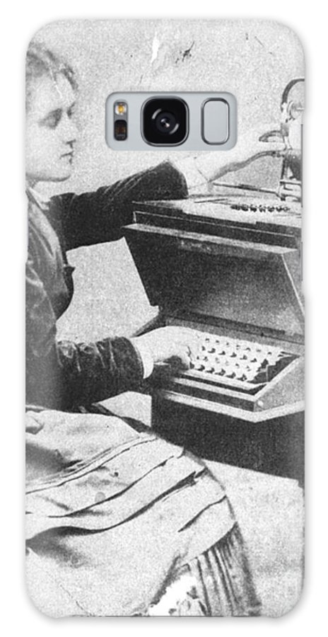 History Galaxy S8 Case featuring the photograph Lillian Sholes, The First Typist, 1872 by Science Source