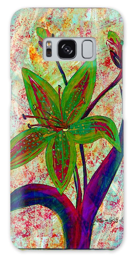 Lily Abstraction Galaxy S8 Case featuring the digital art Lily Abstraction by Barbara Griffin