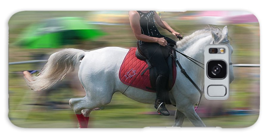 Lipizzaner Stallion Galaxy S8 Case featuring the photograph Lipizzaner At A Gallop by Barry Doherty