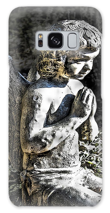 Cultural Artifacts Galaxy S8 Case featuring the photograph Little Angel Statue by Danuta Bennett