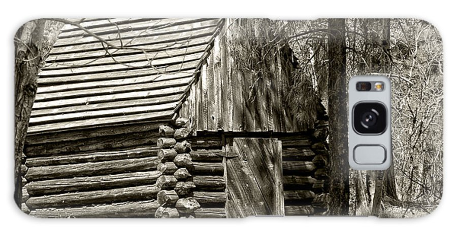 Log House Galaxy S8 Case featuring the photograph Log Building In The Woods by Betty Depee