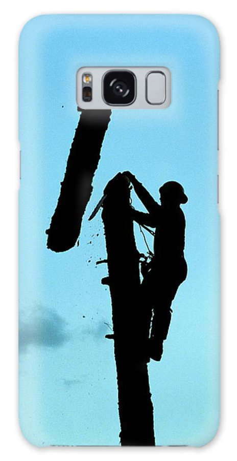 Forest Galaxy S8 Case featuring the photograph Logger Silhouette by One Rude Dawg Orcutt