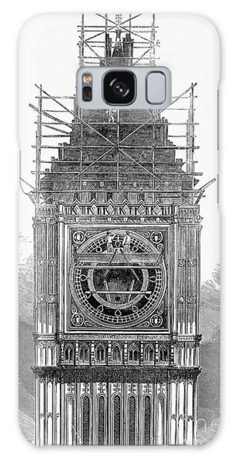 1856 Galaxy S8 Case featuring the photograph London: Clock Tower, 1856 by Granger