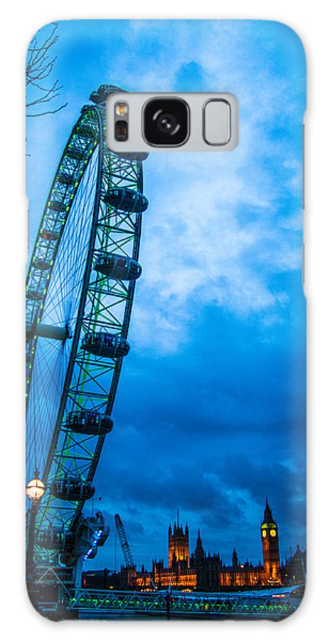 Millennium Wheel Galaxy S8 Case featuring the photograph London Eye At Westminster by Dawn OConnor