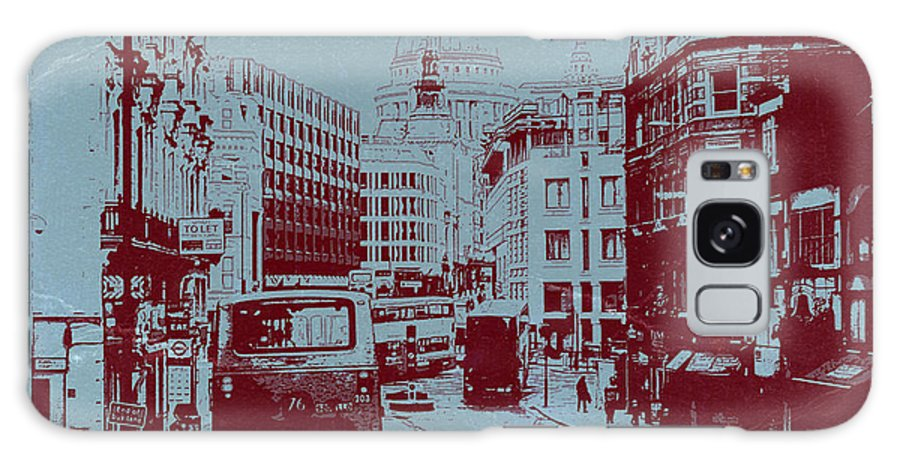 London Fleet Street Galaxy S8 Case featuring the photograph London Fleet Street by Naxart Studio