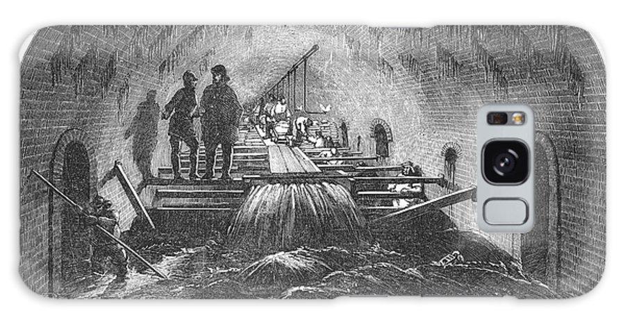 1854 Galaxy S8 Case featuring the photograph London: Fleet Street Sewer by Granger