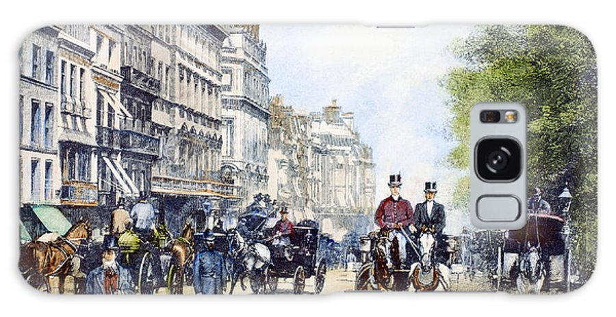 1895 Galaxy S8 Case featuring the photograph London: Piccadilly, 1895 by Granger