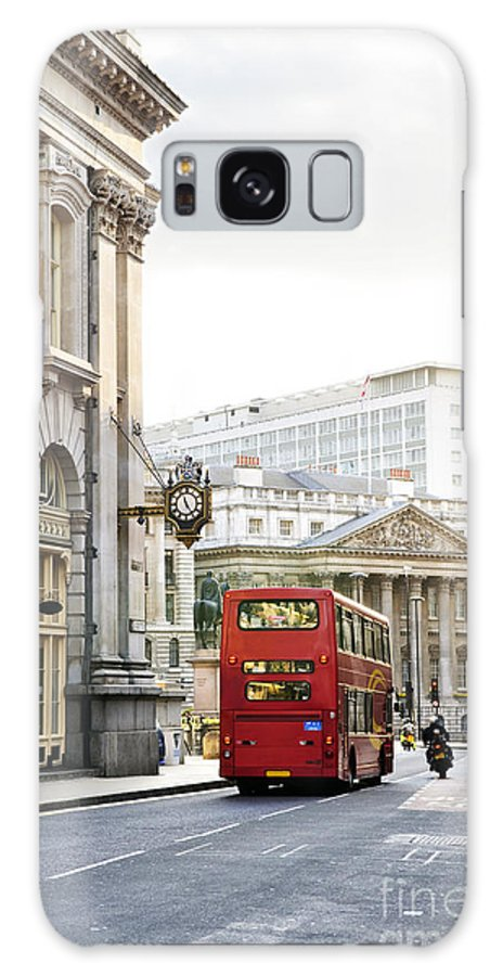 London Galaxy S8 Case featuring the photograph London Street With View Of Royal Exchange Building by Elena Elisseeva