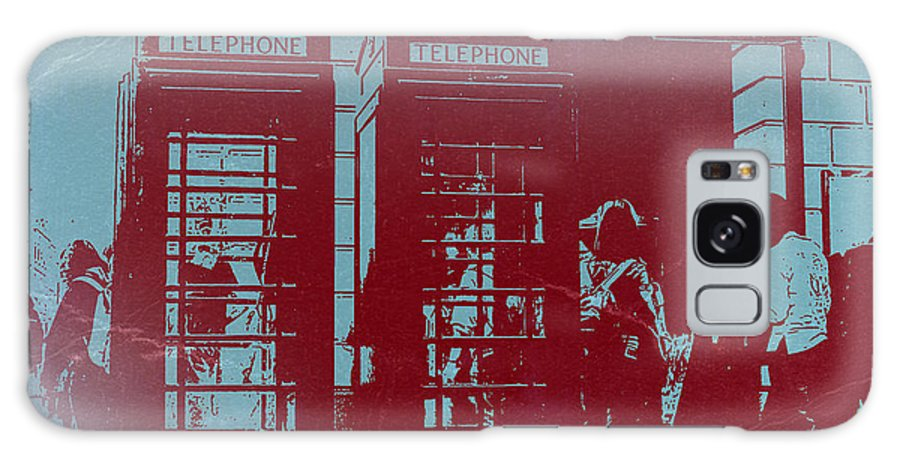London Telephone Booth Galaxy S8 Case featuring the photograph London Telephone Booth by Naxart Studio