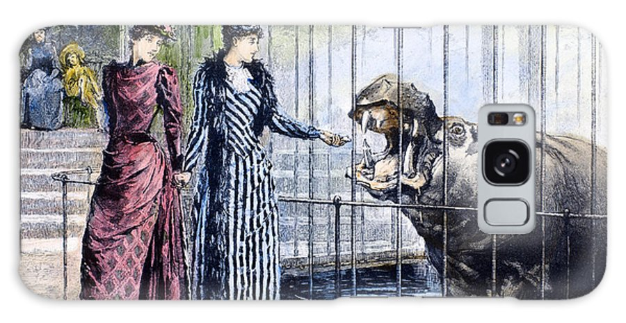 1891 Galaxy S8 Case featuring the photograph London Zoo, 1891 by Granger