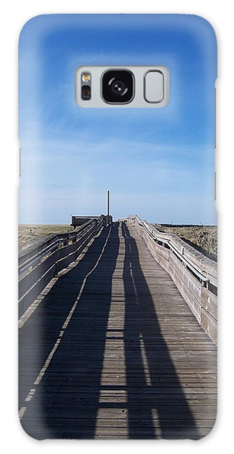 Beach Galaxy S8 Case featuring the photograph Long Beach Boardwalk by Peter Mooyman