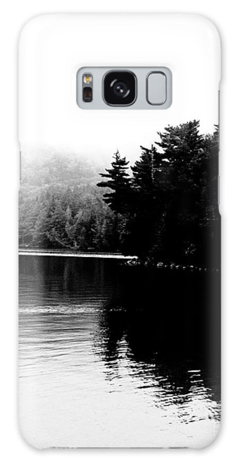 Black White Image Galaxy S8 Case featuring the photograph Long Pond Reflections by Lizi Beard-Ward