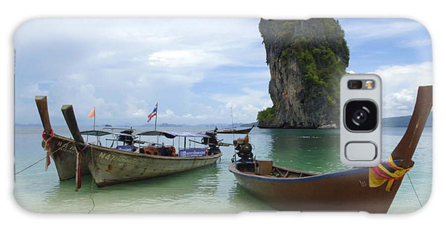 Phuket Galaxy S8 Case featuring the photograph Long Tail Boats Thailand by Bob Christopher