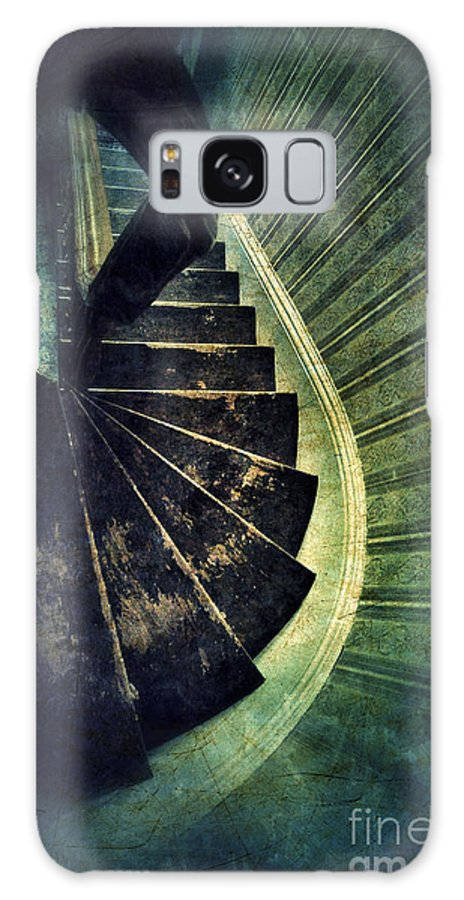 Stairs Galaxy S8 Case featuring the photograph Looking Down An Old Staircase by Jill Battaglia