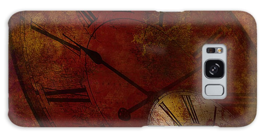 Clock Galaxy S8 Case featuring the digital art Losing Time by Lj Lambert
