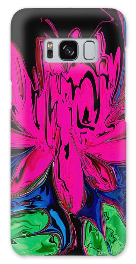 Botanical Galaxy S8 Case featuring the digital art Lotus 5 by Rabi Khan