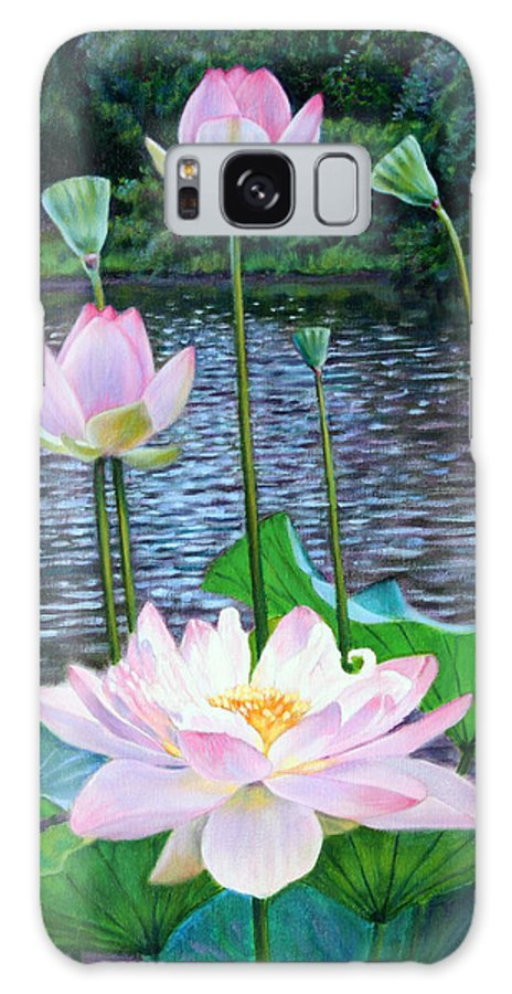 Lotus Galaxy Case featuring the painting Lotus by John Lautermilch