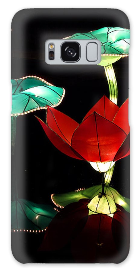 Lotus Galaxy S8 Case featuring the photograph Lotus Lanterns 1 by Greg Matchick