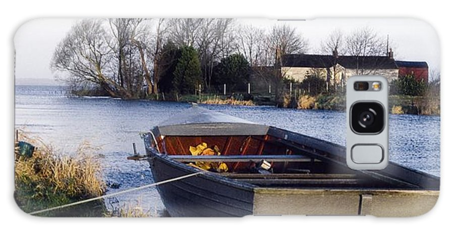 Dusk Galaxy S8 Case featuring the photograph Lough Neagh, Co Antrim, Ireland Boat In by Sici