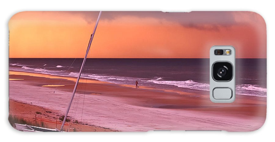 Beach Galaxy S8 Case featuring the photograph Lovers Embrace On The Shoreline by DigiArt Diaries by Vicky B Fuller
