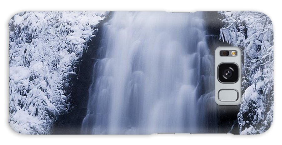 Co Antrim Galaxy S8 Case featuring the photograph Low Angle View Of A Waterfall, Glenoe by The Irish Image Collection