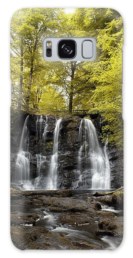 Co Antrim Galaxy S8 Case featuring the photograph Low Angle View Of A Waterfall In A by The Irish Image Collection