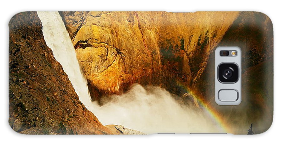 Yellowstone Galaxy S8 Case featuring the photograph Lower Falls Yellowstone River by Jeff Swan