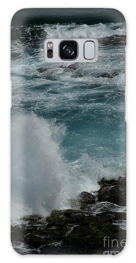Aloha; Sharon Mau; Maliko Point; Maui; Hawaii; Pacific Ocean; Waves; Seascapes; Volcanic; Lava Rocks; North Shore; Hawaiian Islands; Splash; Energy; Power; Ocean; Dimensions; Blue; Nature; Beauty; Beautiful Galaxy S8 Case featuring the photograph Maliko Point Maui Hawaii by Sharon Mau