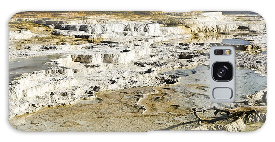 Yellowstone National Park Galaxy S8 Case featuring the photograph Mammoth Hot Springs Terraces by Jon Berghoff