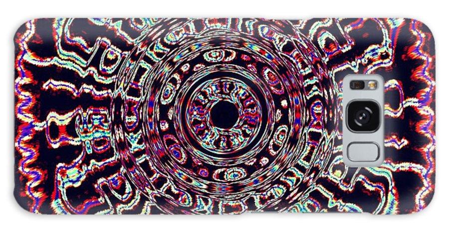 Mandala Galaxy S8 Case featuring the photograph Mandala Fluid Emotions by Renee Trenholm
