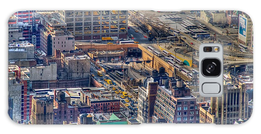 Nyc Galaxy S8 Case featuring the photograph Manhattan Lincoln Tunnel Entrance by Mark Dodd