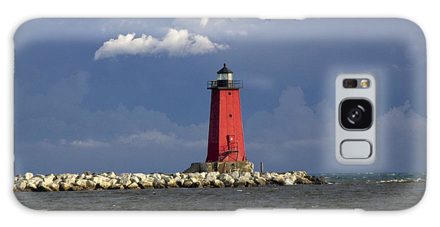 Art Galaxy S8 Case featuring the photograph Manistique Lighthouse In Michigan's Upper Peninsula by Randall Nyhof