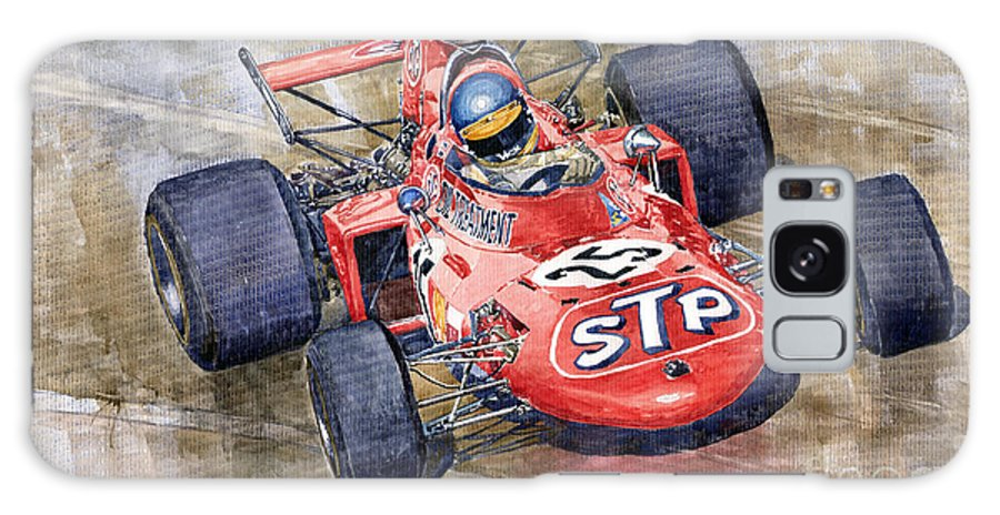 Watercolor Galaxy S8 Case featuring the painting March 711 Ford Ronnie Peterson Gp Italia 1971 by Yuriy Shevchuk