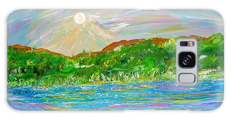 Landscape Galaxy S8 Case featuring the painting Maria De Vera Cruz by Sara Credito