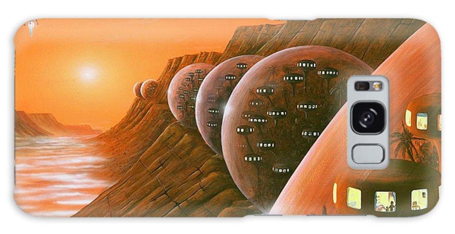 Sun Galaxy S8 Case featuring the photograph Martian Colony, Artwork by Richard Bizley