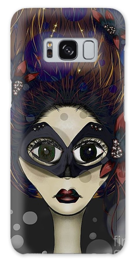 Masquerade Galaxy S8 Case featuring the digital art Masquerade by J Kinion