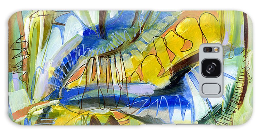 Abstract Galaxy S8 Case featuring the painting Meadow by Lynne Taetzsch