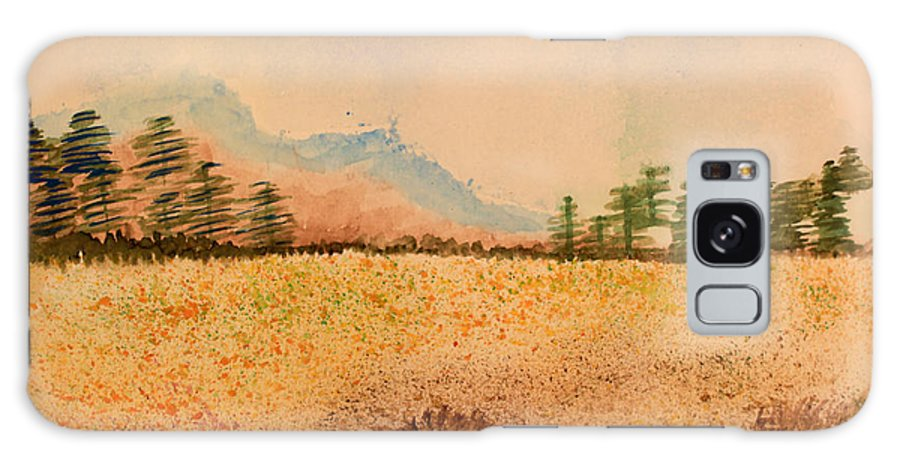 Watercolor Galaxy S8 Case featuring the painting Meadow Wildflowers - Watercolor by Heidi Smith