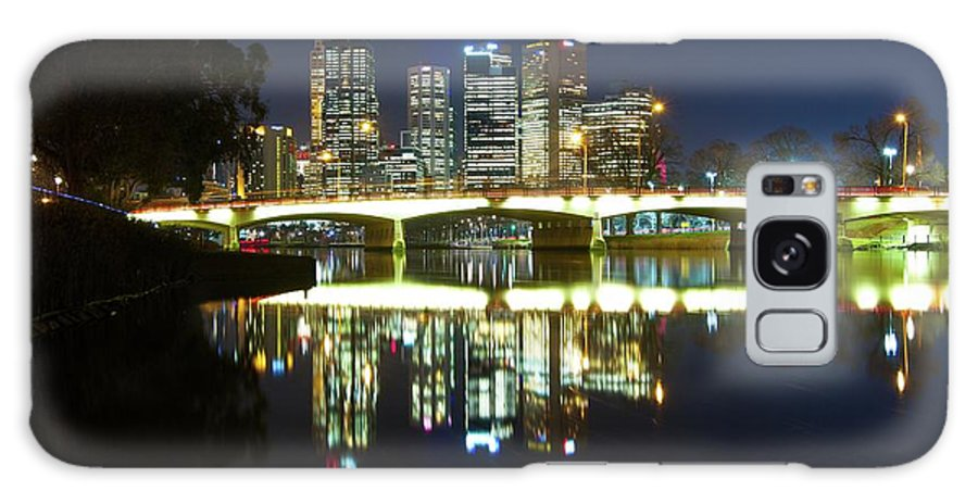 Melbourne Galaxy S8 Case featuring the photograph Melbourne Lights by Chris Anthony