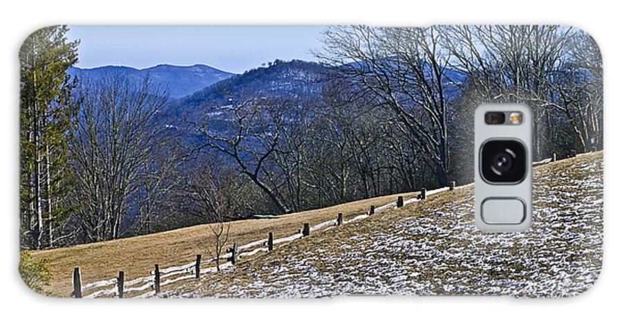A Pasture And Mountain View In The Cataloochee Area Of The Great Smoky Mountains. Galaxy S8 Case featuring the photograph Melting Snow by Susan Leggett