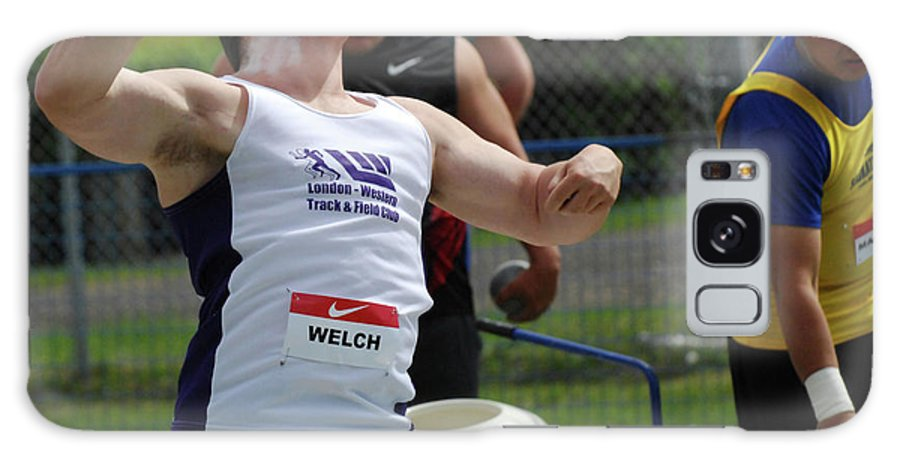Canadian Track And Field National Championships 2011 Galaxy S8 Case featuring the photograph Mens Shotput by Bob Christopher