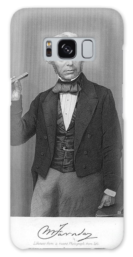 19th Century Galaxy S8 Case featuring the photograph Michael Faraday (1791-1867) by Granger