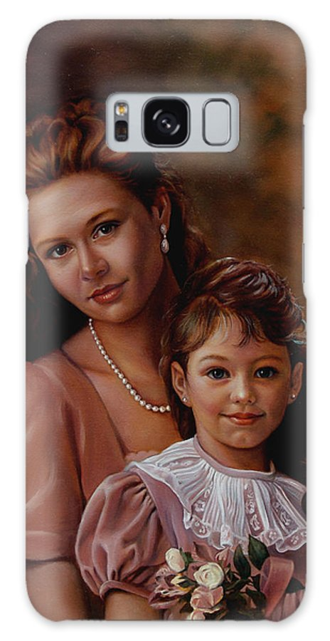 Portrait Galaxy S8 Case featuring the painting Michaela And Alexandra by Patrick Anthony Pierson