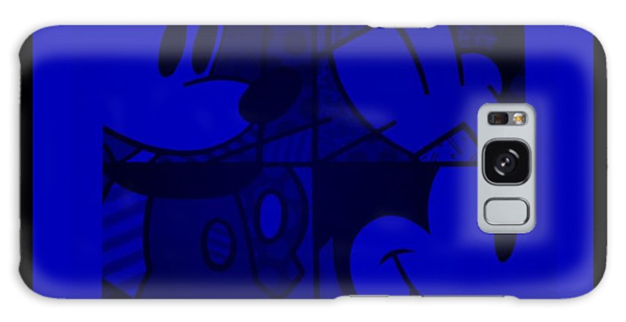 Mickey Mouse Galaxy S8 Case featuring the photograph Mickey In Blue by Rob Hans