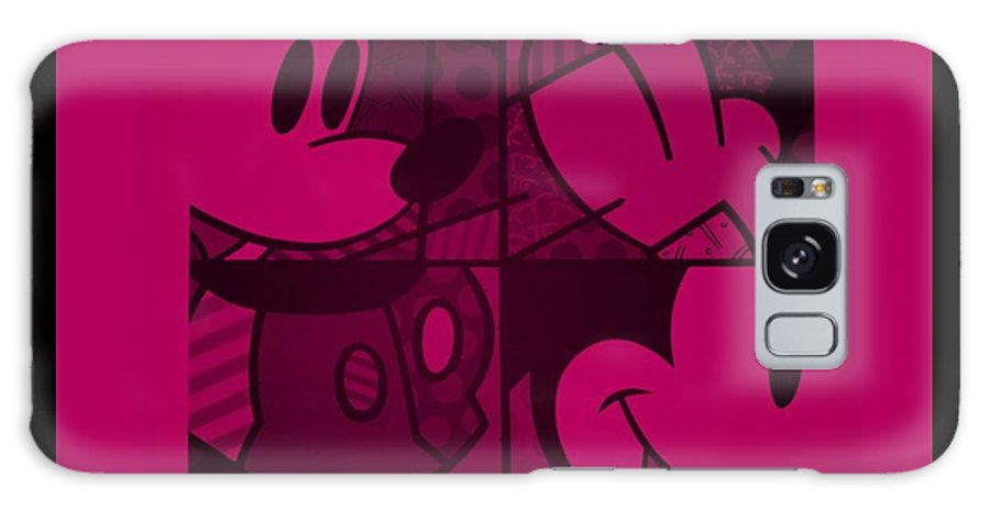 Mickey Mouse Galaxy S8 Case featuring the photograph Mickey In Hot Pink by Rob Hans