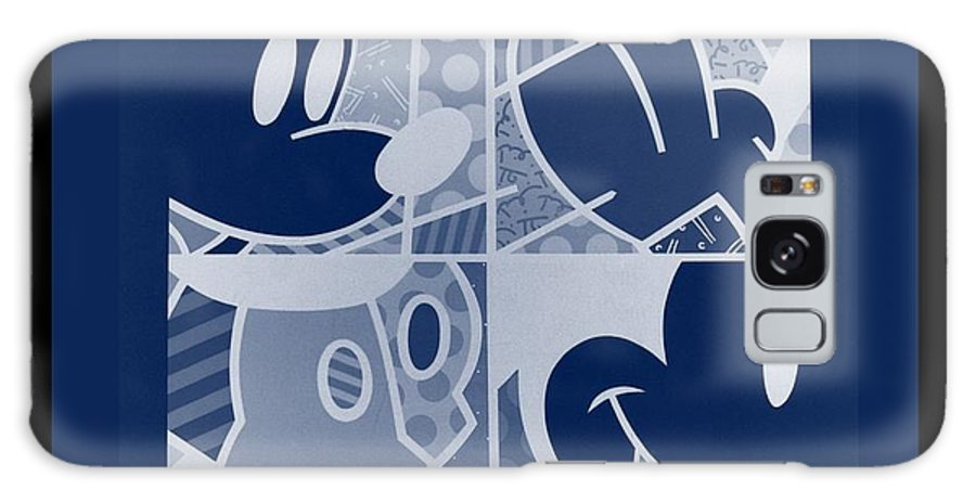 Mickey Mouse Galaxy S8 Case featuring the photograph Mickey In Negative Deep Blue by Rob Hans