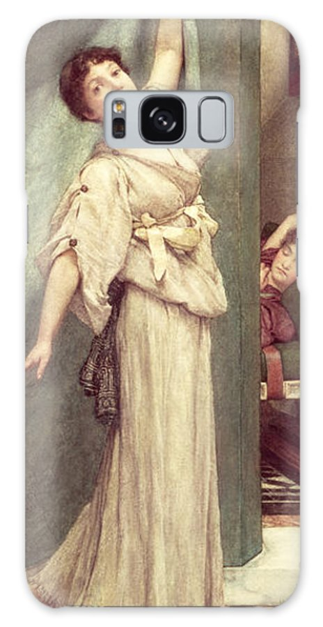 Midday Galaxy S8 Case featuring the painting Midday Slumbers by Sir Lawrence Alma-Tadema