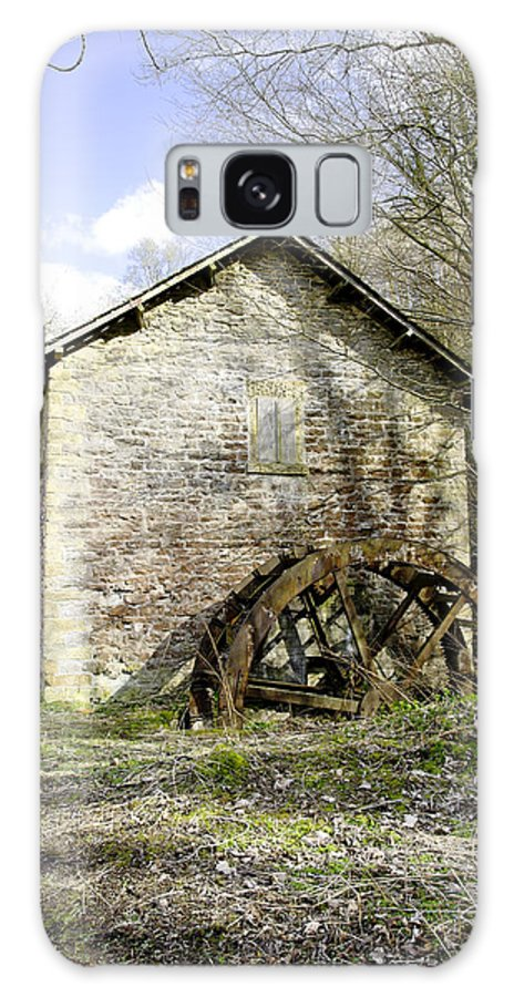 Countryside Galaxy S8 Case featuring the photograph Mill And Water-wheel Near Ashford-in-the-water by Rod Johnson