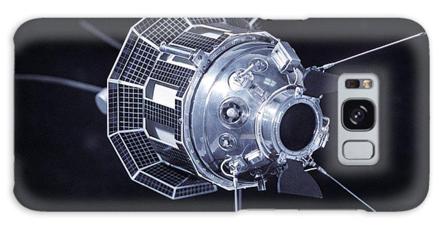 Lunik 3 Galaxy S8 Case featuring the photograph Model Of The Luna 3 Spacecraft by Ria Novosti