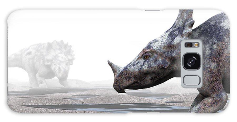 Monoclonius Galaxy S8 Case featuring the photograph Monoclonius Dinosaur by Christian Darkin
